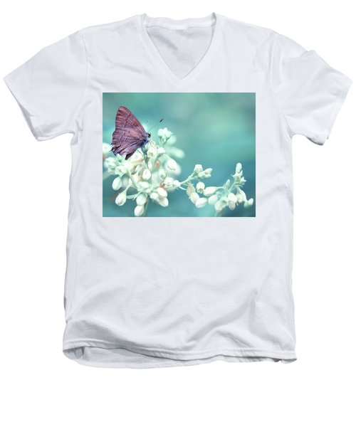 Men's V-Neck T-Shirt featuring the photograph Buterfly Dreamin' by Mark Fuller