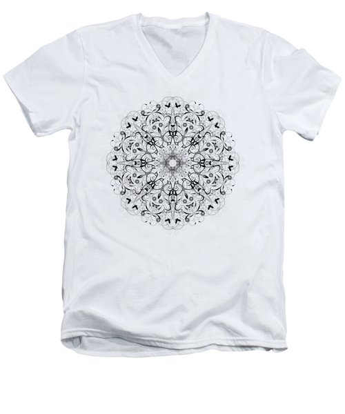 Butterflies And Grapes  Men's V-Neck T-Shirt