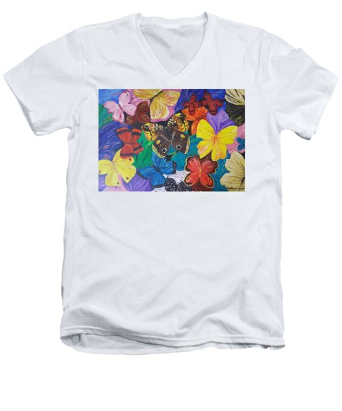 Butterflies Men's V-Neck T-Shirt