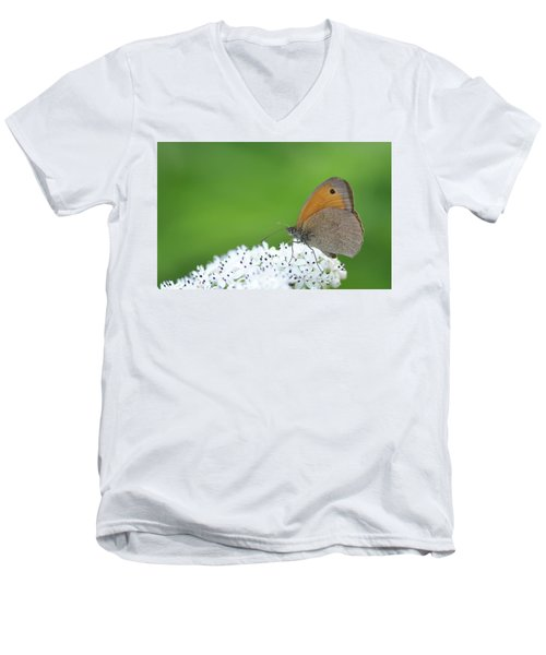 Men's V-Neck T-Shirt featuring the photograph Butterfly by Bess Hamiti