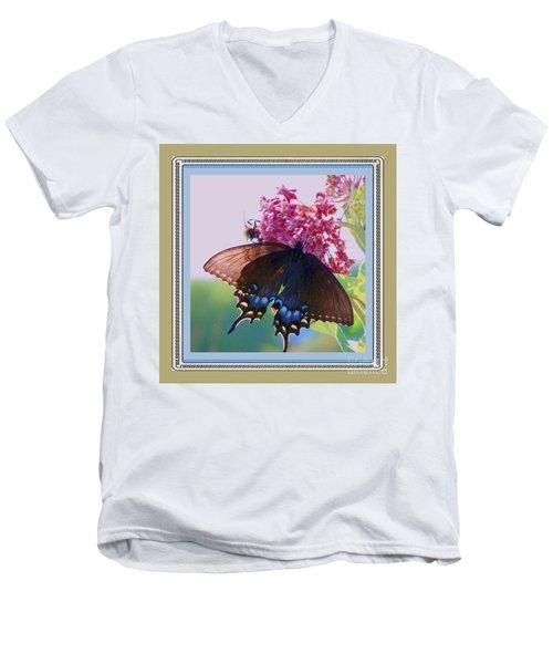Butterfly Blues II Men's V-Neck T-Shirt