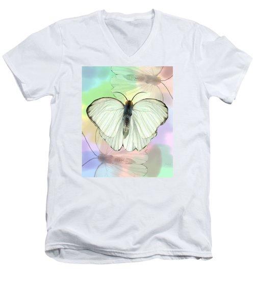 Butterfly, Butterfly Men's V-Neck T-Shirt by Rosalie Scanlon