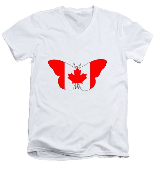 Butterfly Canada  Men's V-Neck T-Shirt by Mordax Furittus