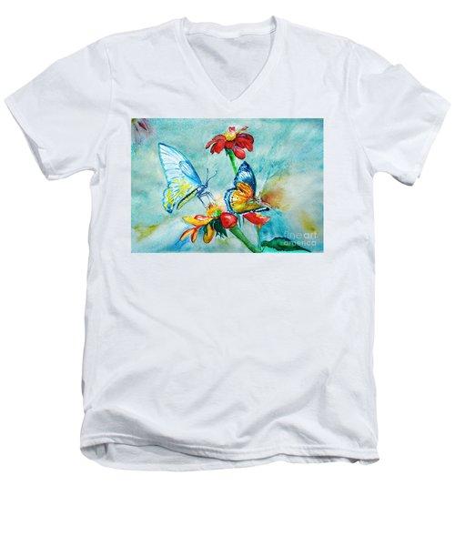 Butterfly Dance Men's V-Neck T-Shirt