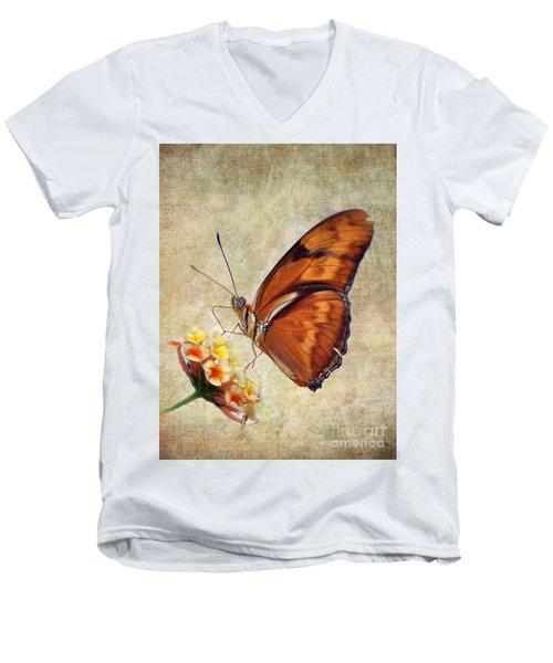 Butterfly Men's V-Neck T-Shirt by Savannah Gibbs