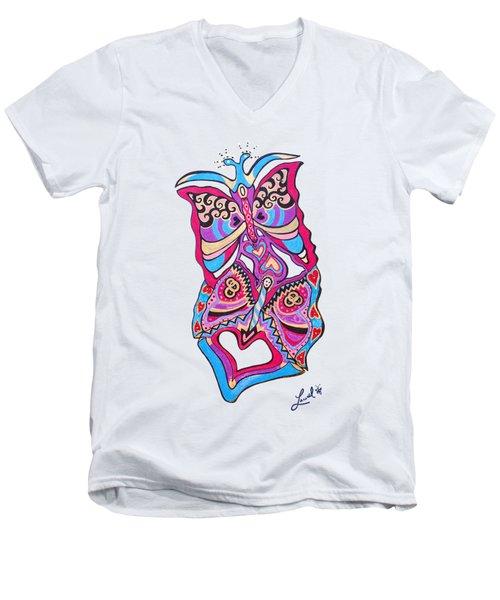 Butterfly Totem Men's V-Neck T-Shirt