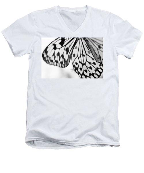 Butterfly Wings 3 - Black And White Men's V-Neck T-Shirt