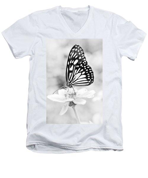 Butterfly Wings 7 - Black And White Men's V-Neck T-Shirt