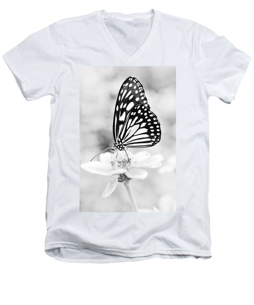 Butterfly Wings 7 - Black And White Men's V-Neck T-Shirt