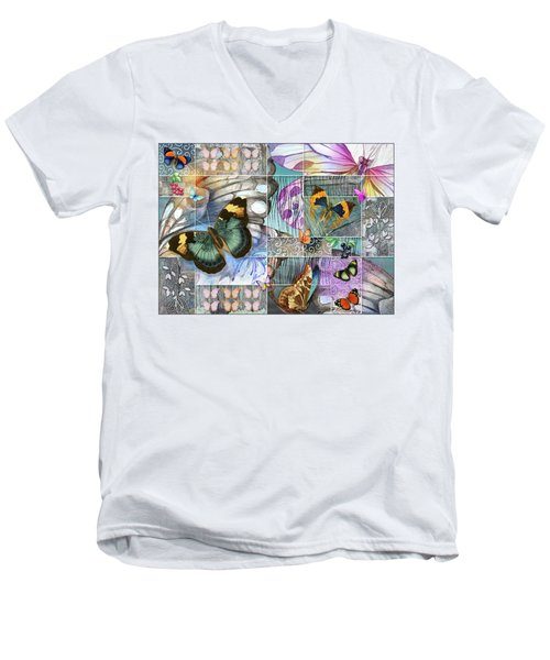Butterfly Wings Collage Men's V-Neck T-Shirt