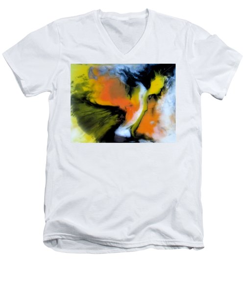 Butterfly Wings Men's V-Neck T-Shirt by Mary Kay Holladay