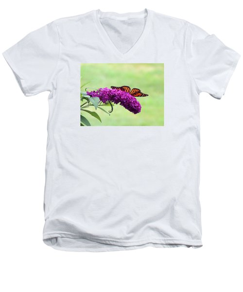 Butterfly Wings Men's V-Neck T-Shirt by Teresa Schomig