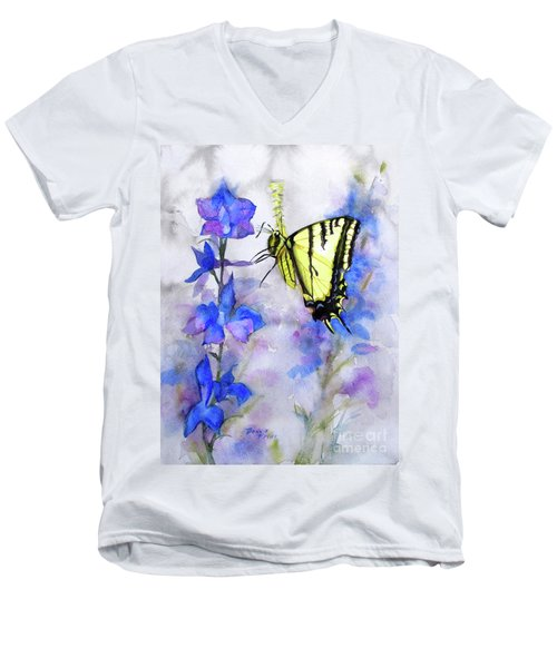 Butteryfly Delight Men's V-Neck T-Shirt by Bonnie Rinier