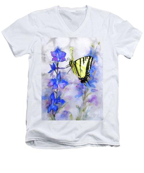 Butteryfly Delight Men's V-Neck T-Shirt