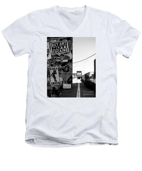 Buy Art Not Cocaine Men's V-Neck T-Shirt by James Aiken