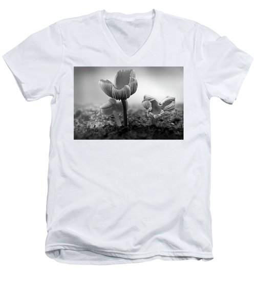 Bw Mushroom - 365- 232 Men's V-Neck T-Shirt by Inge Riis McDonald