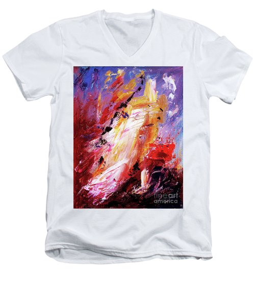 By Herself 3 Men's V-Neck T-Shirt by Jasna Dragun