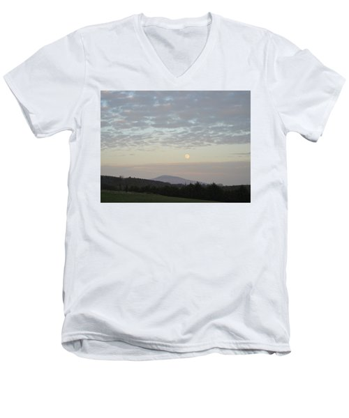 By The Rising Of The Moon Men's V-Neck T-Shirt by Suzanne Oesterling