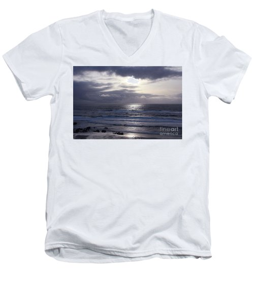 By The Silvery Light Men's V-Neck T-Shirt by Sheila Ping