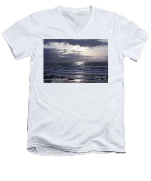 By The Silvery Light Men's V-Neck T-Shirt