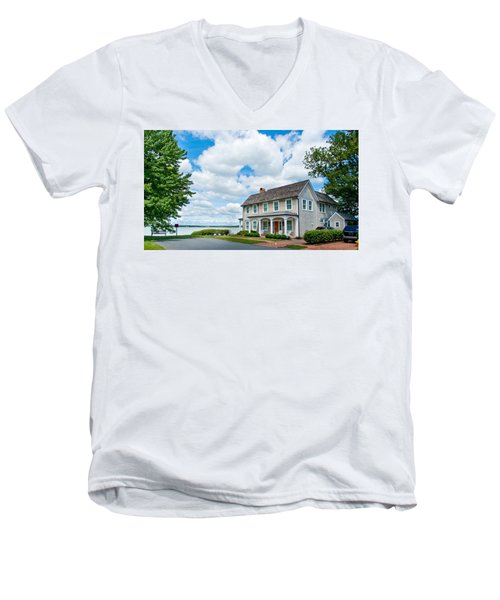 By The Water In Oxford Md Men's V-Neck T-Shirt
