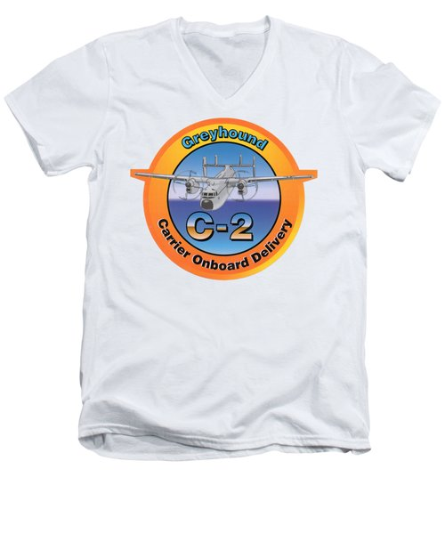 C-2 Greyhound Men's V-Neck T-Shirt