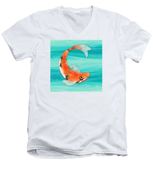 C Is For Cal The Curious Carp Men's V-Neck T-Shirt
