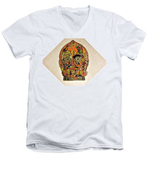 C3po Star Wars Afrofuturist Collection Men's V-Neck T-Shirt