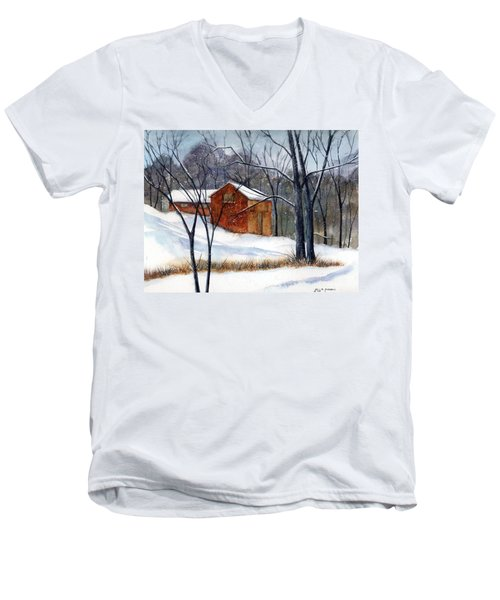 Cabin In The Woods Men's V-Neck T-Shirt