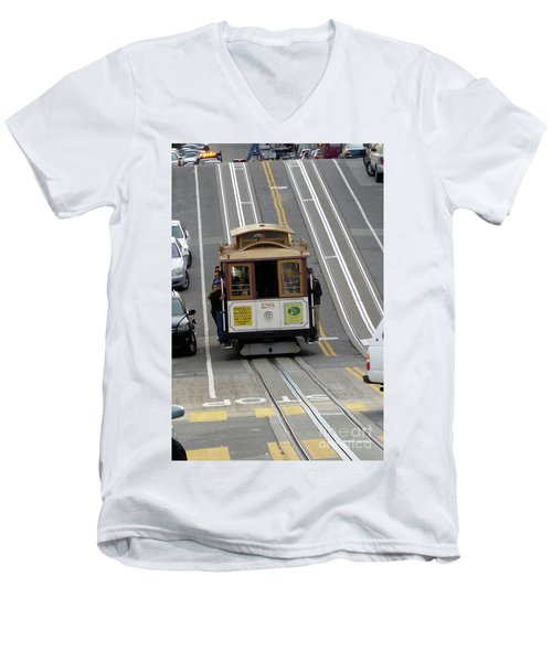 Cable Car Men's V-Neck T-Shirt