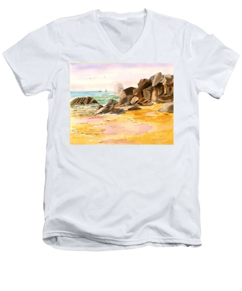 Cabo San Lucas Men's V-Neck T-Shirt by Larry Hamilton