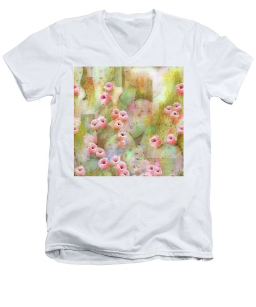 Cactus Rose Men's V-Neck T-Shirt