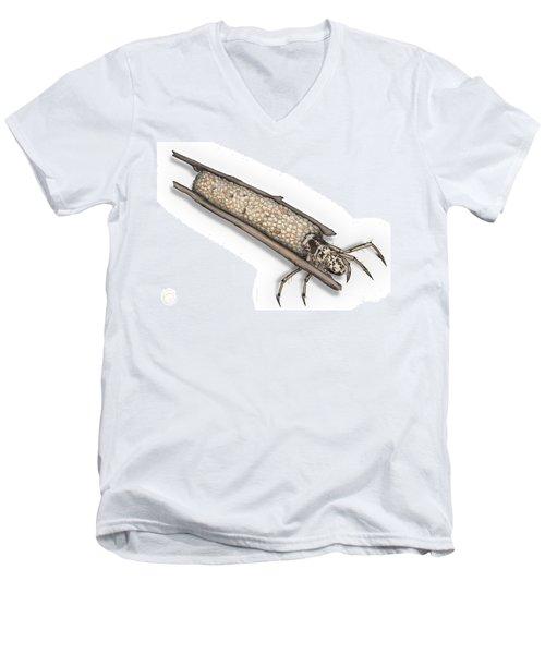 Caddisfly Limnephilidae Anabolia Nervosea Larva Nymph -  Men's V-Neck T-Shirt
