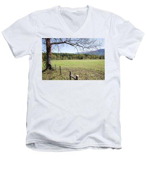 Cades Fence Men's V-Neck T-Shirt