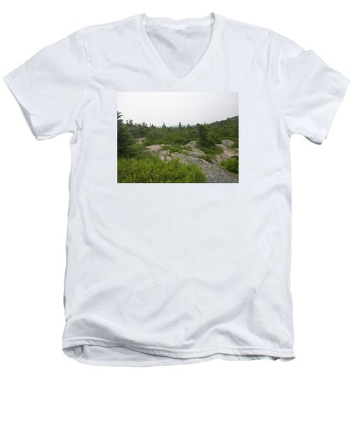 Cadillac Mountain Men's V-Neck T-Shirt by Helen Haw
