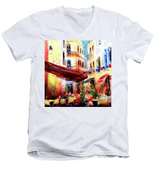 Cafe Scene Men's V-Neck T-Shirt