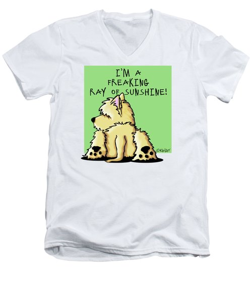 Cairn Terrier Sunshine Men's V-Neck T-Shirt