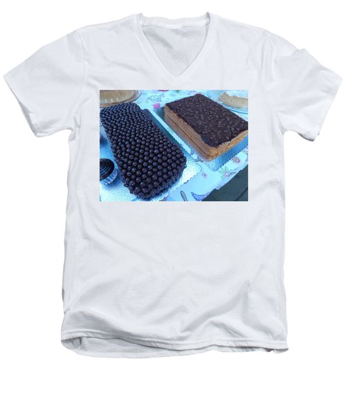 Men's V-Neck T-Shirt featuring the photograph Cake And Dreams by Beto Machado