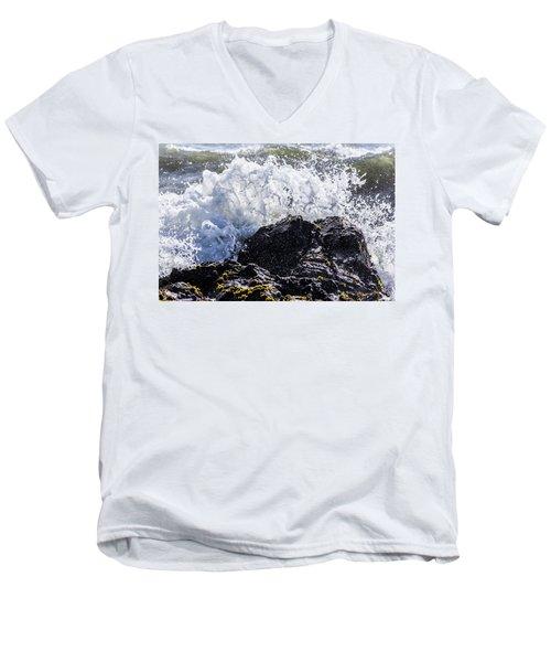 California Coast Wave Crash 4 Men's V-Neck T-Shirt