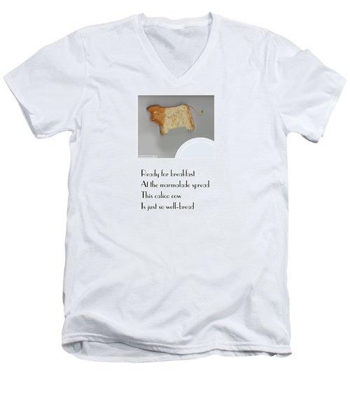 Calico Cow Men's V-Neck T-Shirt by Graham Harrop