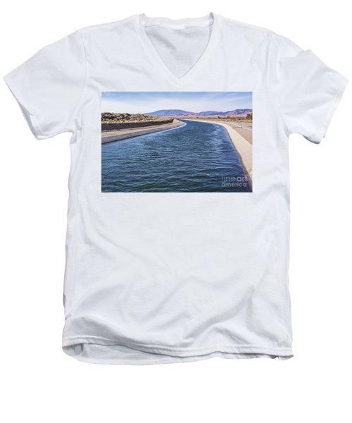 California Aqueduct S Curves Men's V-Neck T-Shirt