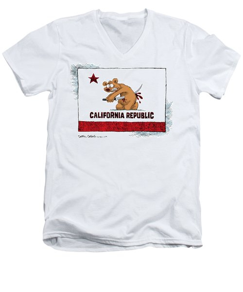 California Budget Harakiri Men's V-Neck T-Shirt