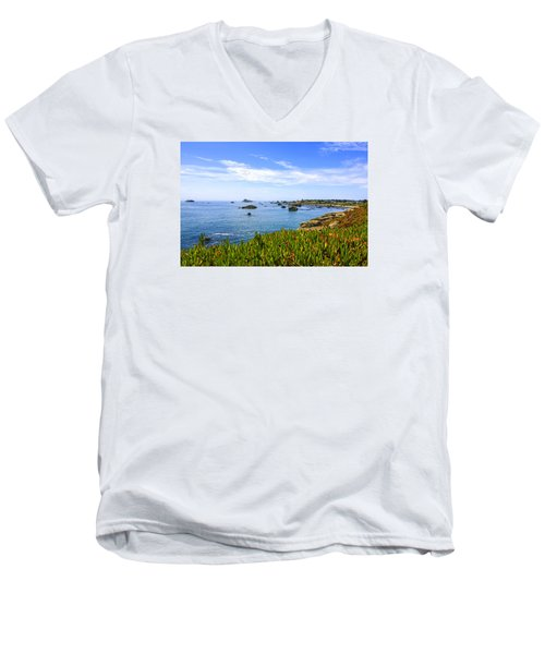California Coastal Summer Men's V-Neck T-Shirt