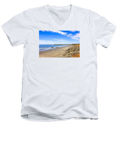 California Coastline Men's V-Neck T-Shirt