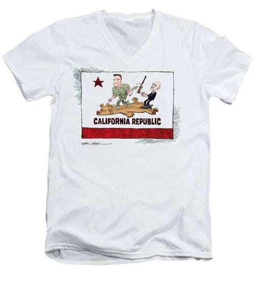 California Governor Handoff Men's V-Neck T-Shirt