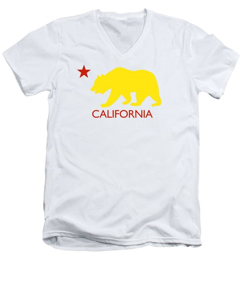 California Men's V-Neck T-Shirt by Jim Pavelle