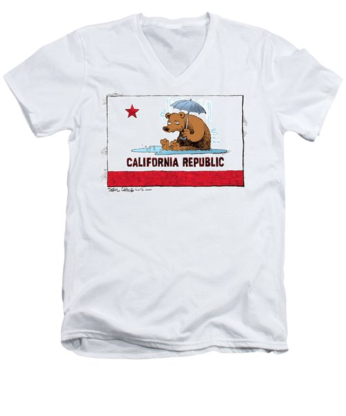 California Rain Men's V-Neck T-Shirt