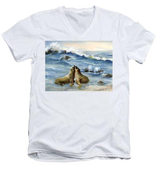 California Sea Lions Men's V-Neck T-Shirt