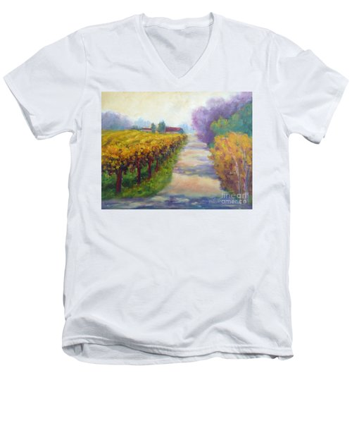 California Wine Country Men's V-Neck T-Shirt