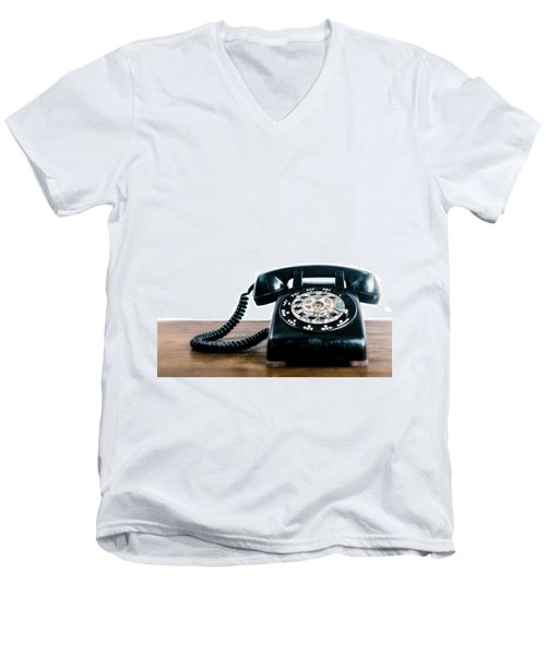 Men's V-Neck T-Shirt featuring the photograph Call Me Let's Do Work. by TC Morgan